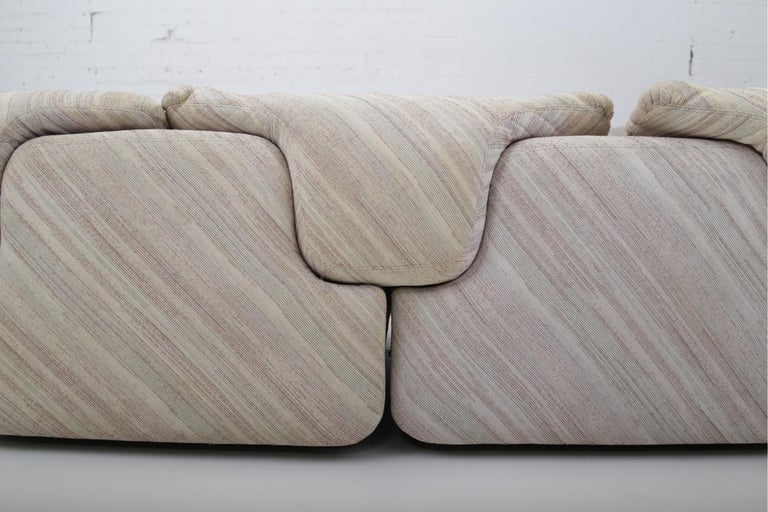 "'Confidential"" Sectional Sofa by Alberto Rosselli for Saporiti, Missoni Fabric For Sale 1"