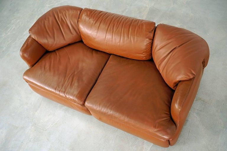 Mid-Century Modern Confidential Series Sofa by Alberto Rosselli for Saporiti Italia, 1970s