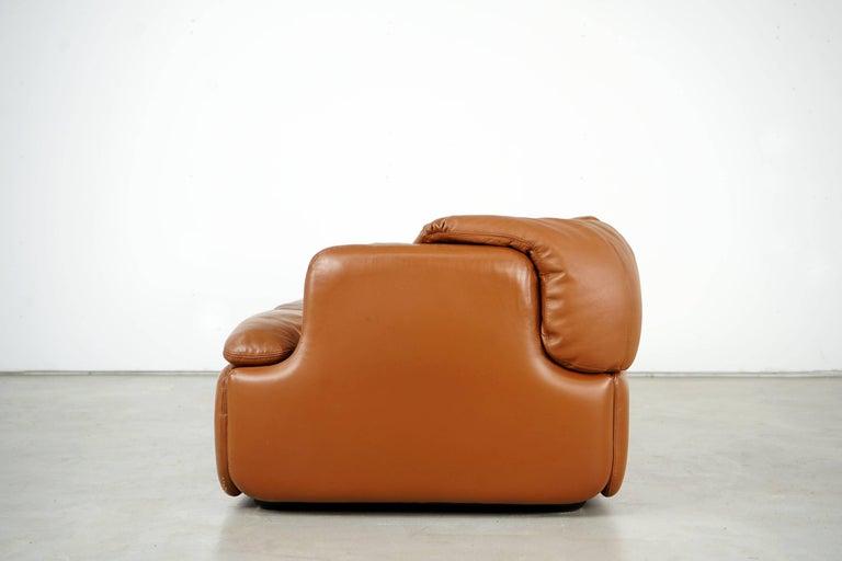 Italian Confidential Series Sofa by Alberto Rosselli for Saporiti Italia, 1970s