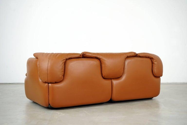 Confidential Series Sofa by Alberto Rosselli for Saporiti Italia, 1970s In Good Condition In Munster, NRW