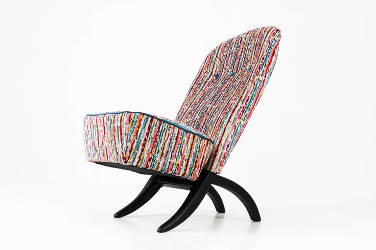 Wood Congo Lounge Chair by Theo Ruth for Artifort, 1950s For Sale