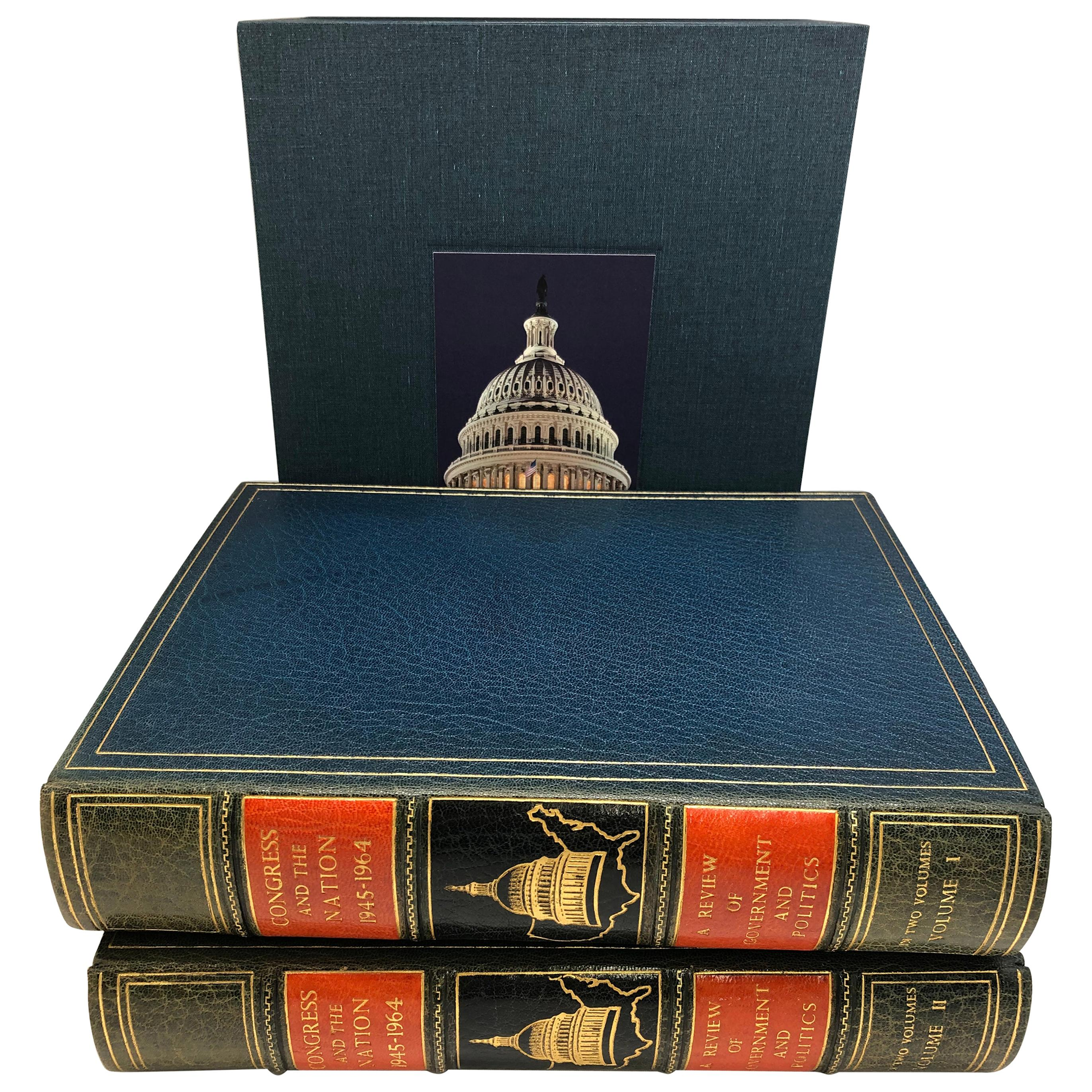"""""""Congress and the Nation 1946-1964"""" First Edition Two-Volume Set, Published 1965"""