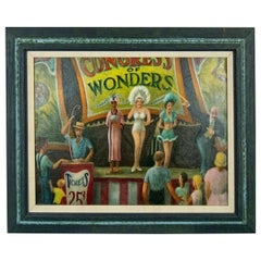 Congress of Wonders Circus Painting by Dennis Meighan Burlingame NY