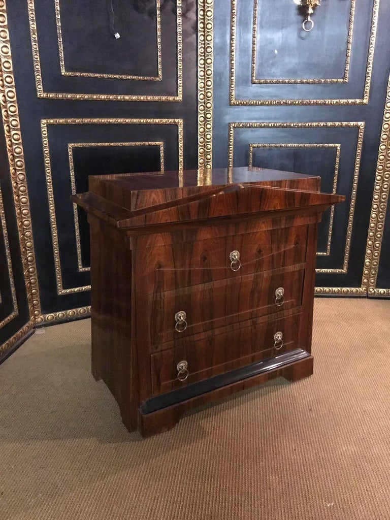 German Conical Commode Chest of Drawers in the Biedermeier Style For Sale