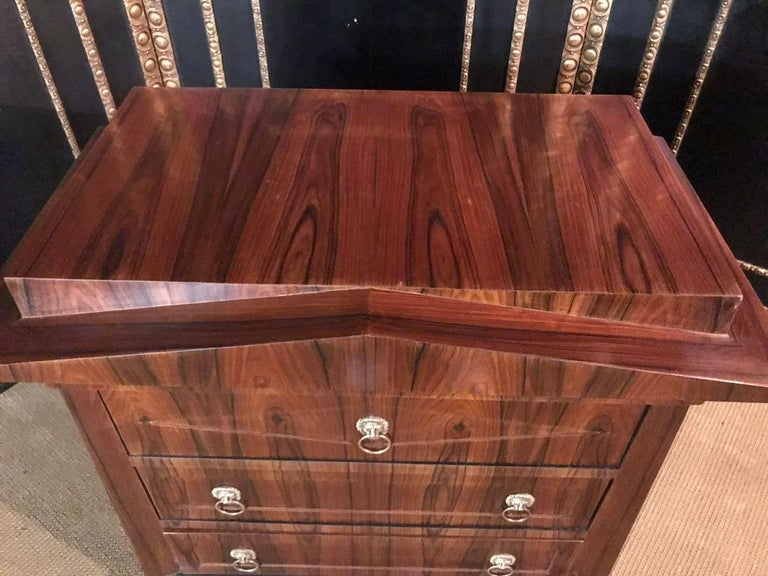 Veneer Conical Commode Chest of Drawers in the Biedermeier Style For Sale