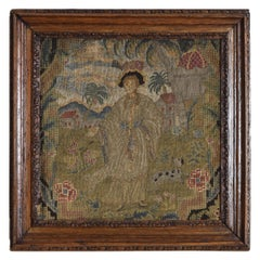 Conintental Frame Tapestry Fragement, Early 18th Century