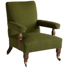 Connaught Upholstered Armchair, England, circa 1890