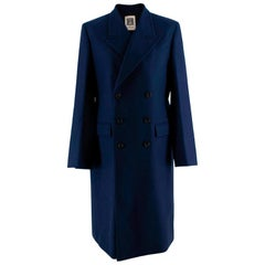 Connolly Double-breasted peak-lapel wool-blend coat - Size US 8