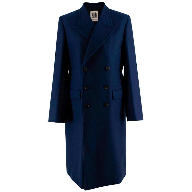 Connolly Double-breasted peak-lapel wool-blend coat - Size M 38 IT