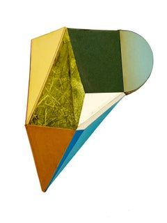 "Conny Goelz Schmitt ""Hideout"" -- Abstract 3-D Mixed Media Collage"
