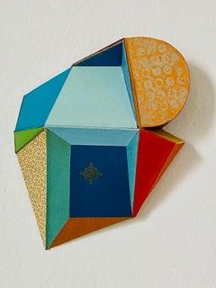 "Conny Goelz Schmitt ""Flower Moon"" - Wall sculpture made of vintage book parts"