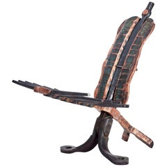 """Conrad Hicks, """"Artefact"""", Wrought Iron and Copper Chair"""