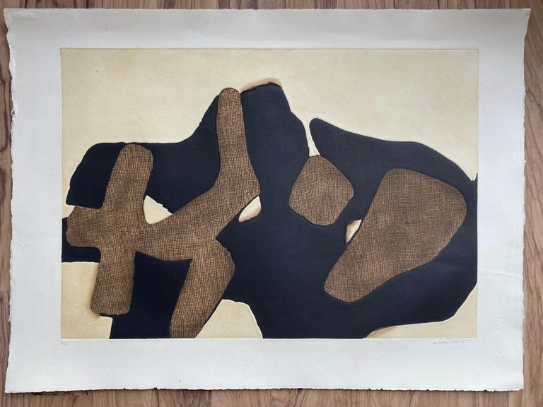 Conrad Marca-Relli Composition Lithography 1977 - Abstract Mixed Media Art by Conrad Marca-Relli