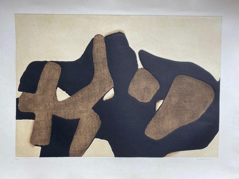 Conrad Marca-Relli Composition Lithography 1977 - Mixed Media Art by Conrad Marca-Relli