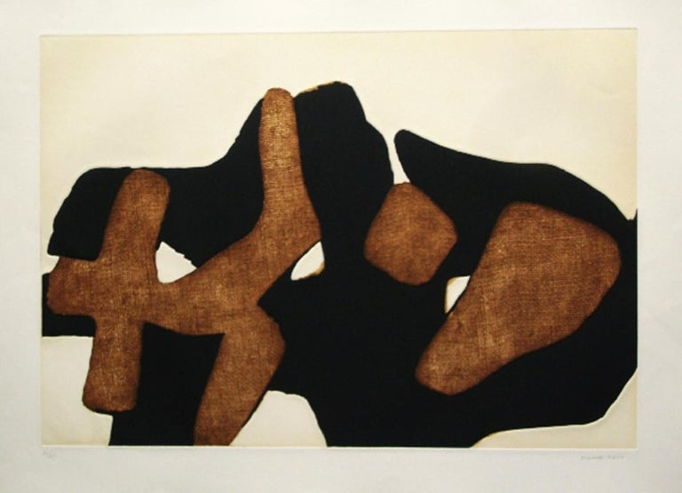 Composition IV Date of creation: 1977 Medium: Etching and aquatint Media: Gvarro paper Edition: 75 + AP + HC Size: 56 x 76 cm Observations: Etching and aquatint on Gvarro paper hand signed and numbered in pencil by Conrad Marca-Relli. Published in