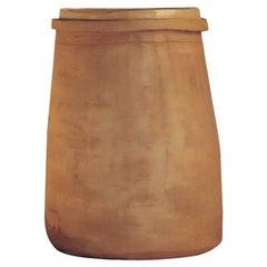 """Conserva Madre"" Handmade Large Vase in Light Lombard Clay Contemporary Art Nino"