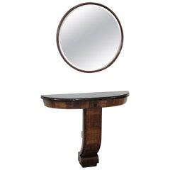 Console and Mirror Art Deco Italian Design Varedo Borsani Style