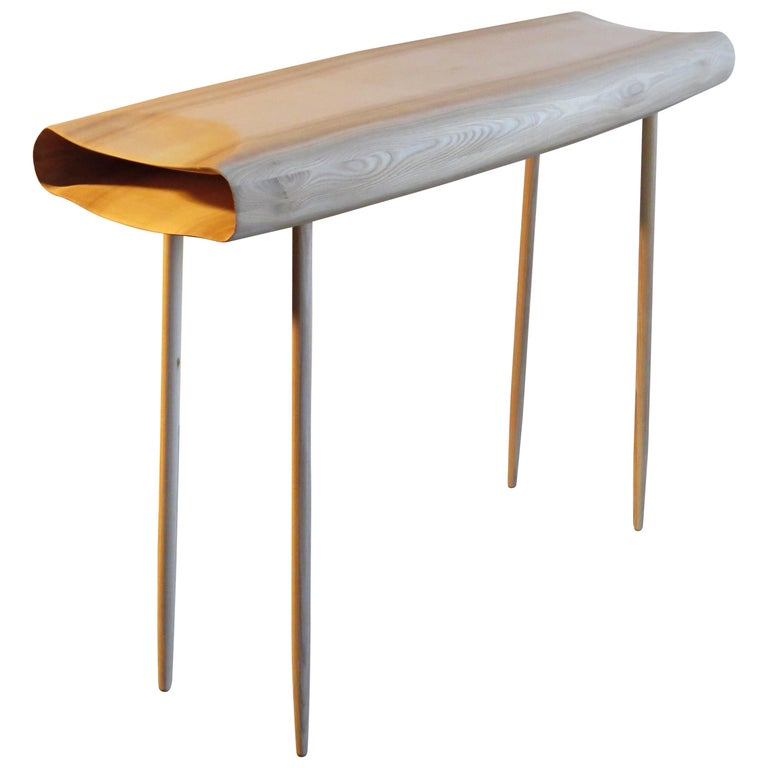 """Console """"Clouth"""" Solid Wood, Organic Design, Made to Measure in Germany For Sale"""
