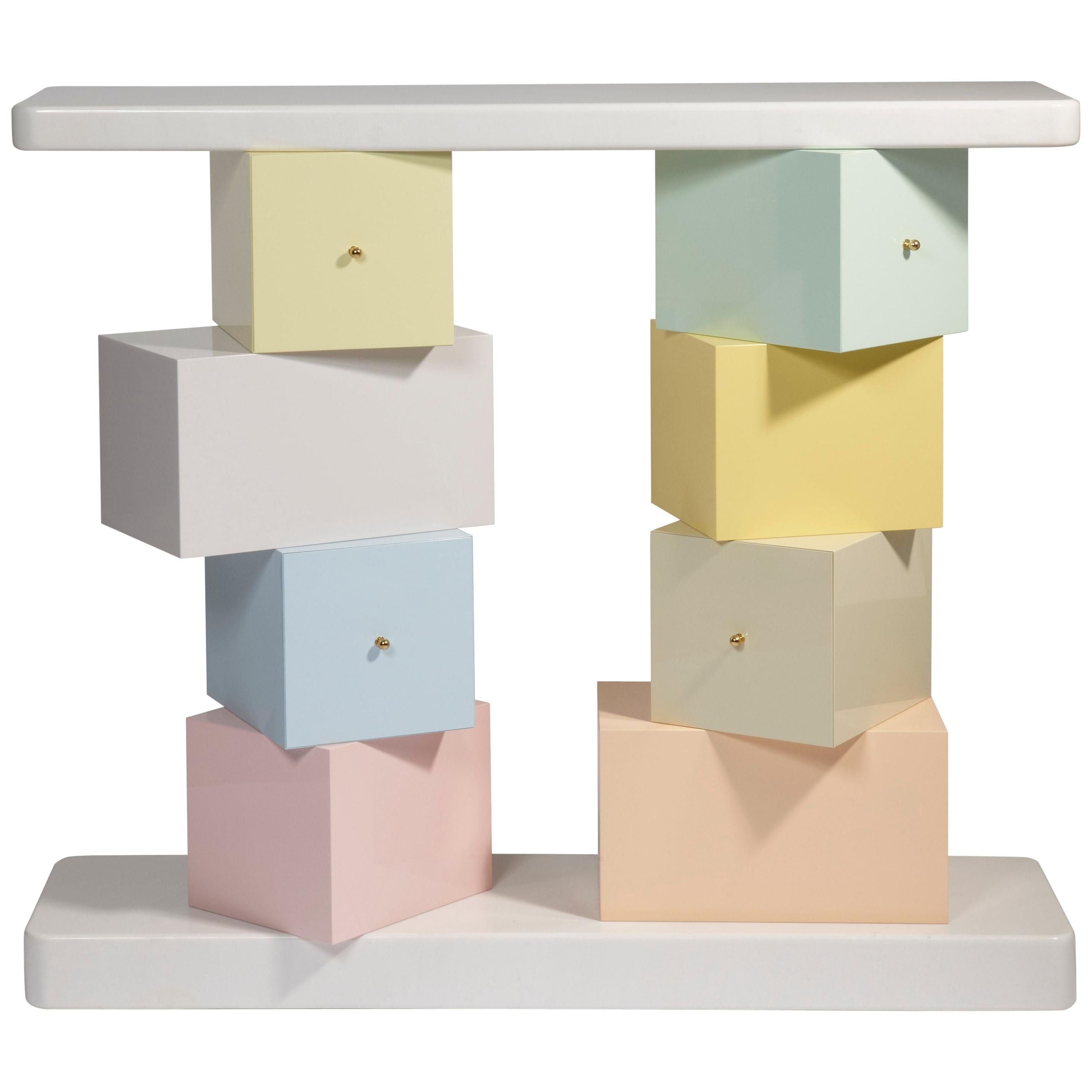 """Console """"Cubica"""" by Ettore Sottsass"""
