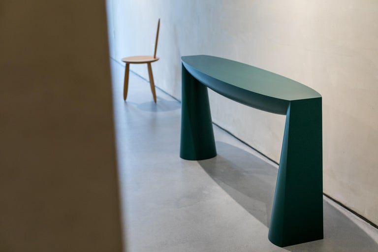 Modern Console Green by Aldo Bakker For Sale