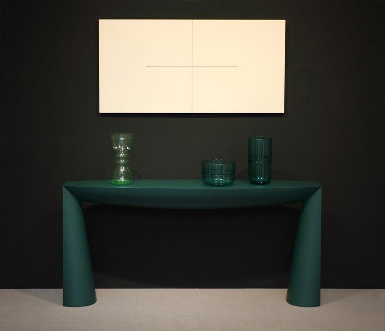 Dutch Console Green by Aldo Bakker For Sale