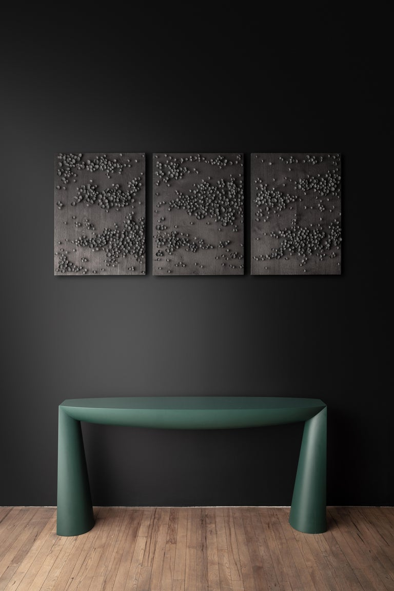 Lacquered Console Green by Aldo Bakker
