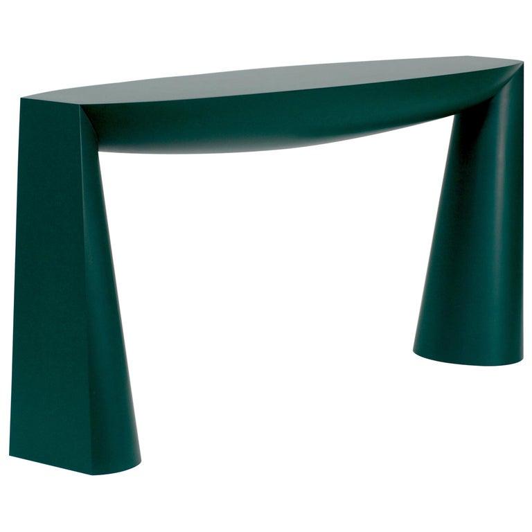 Console Green by Aldo Bakker For Sale