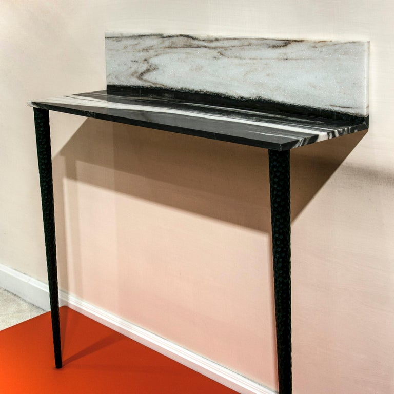 Italian Console in Marble and Wood For Sale