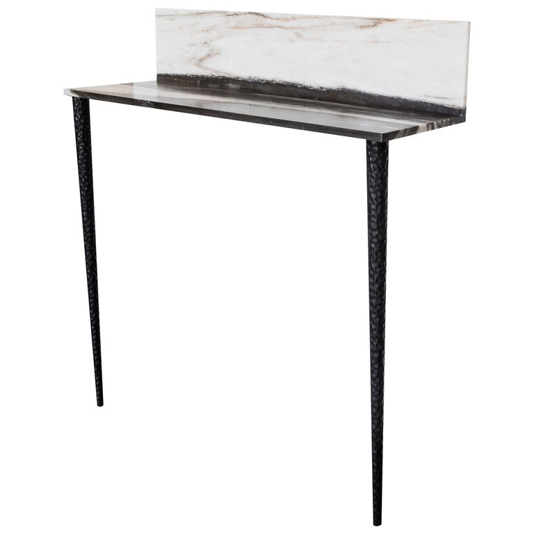 Console in Marble and Wood For Sale