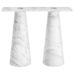 Console in Marble, by Karen Chekerdjian, Made in Italy