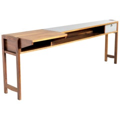 Console in Walnut and Formica, Italy, 1955