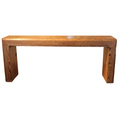 Console Made from Reclaimed Pine Beam