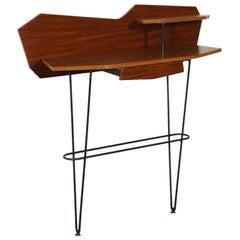 Console Mahogany Veneer, Italy, 1950s-1960s