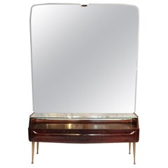 Console Mirror Table with Spider Legs by Vittorio Dassi, Italy, 1950s
