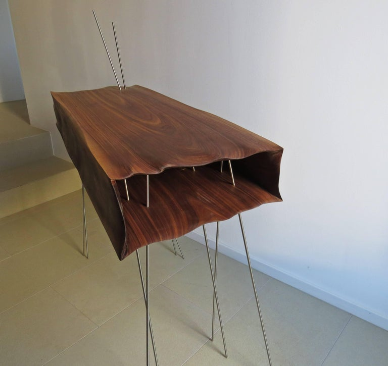 German Console Organically Sculptural Solid Wood For Sale