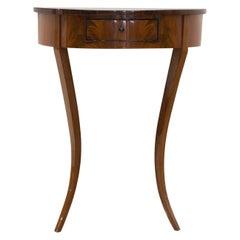 Console Side Table, Germany, 19th Century, Mahogany Veneer