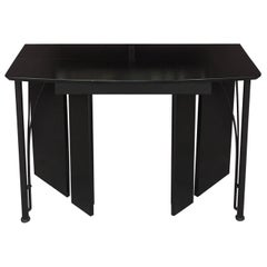 Console Table, Convertible, Wood and Metal Llaqué, circa 1980