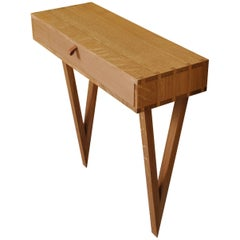 Console Table, Handcrafted English Oak