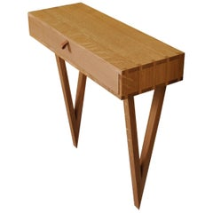 Modernist Console Table, Handcrafted English Oak