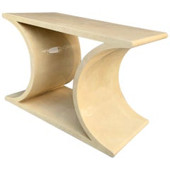 Console Table in Goat Skin by Sally Sirkin Lewis