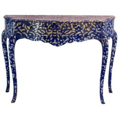 Console Table in Yves Klein Blue