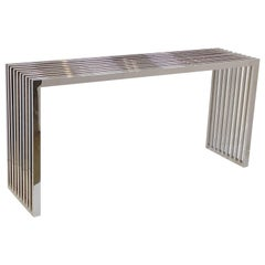 Console Table of Chrome by Eichholtz