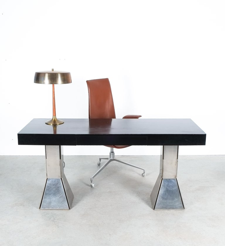 Console Table or Desk In Formica Stainless Steel, Italy For Sale 5