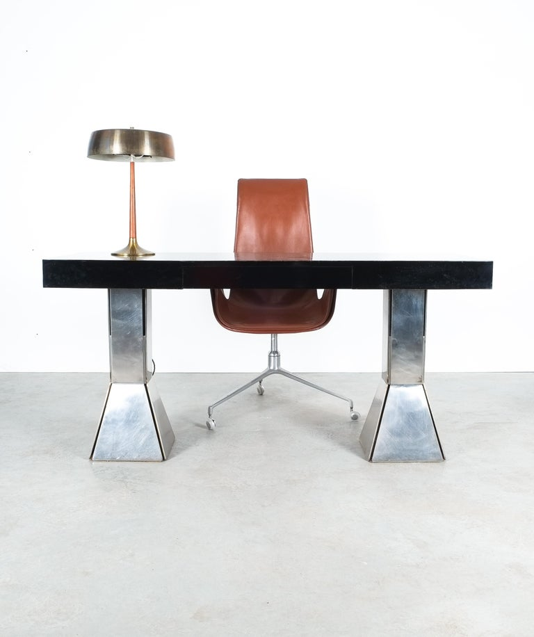 Console Table or Desk In Formica Stainless Steel, Italy For Sale 6