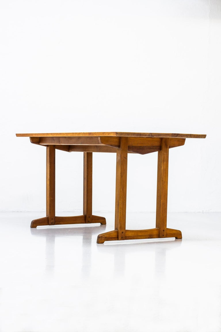 Console or dining table designed by Carl Malmsten in 1953 model