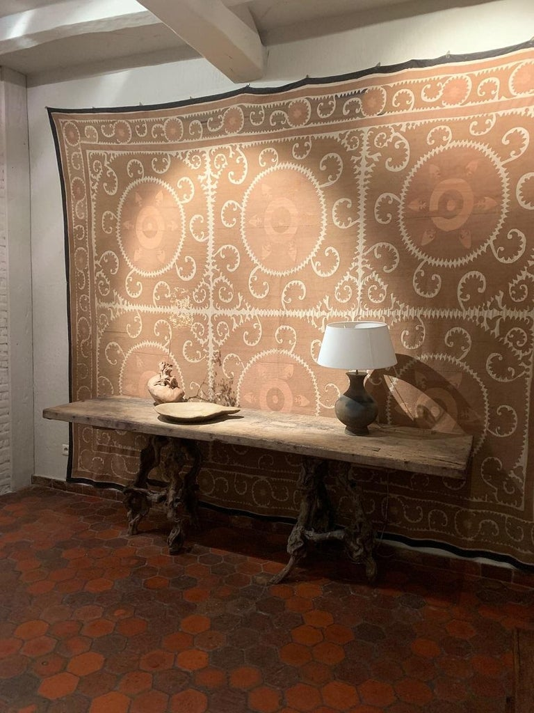 Console Table with One Slab 17th Century Top on 19th Century Winebranch Consoles In Good Condition For Sale In Vosselaar, BE