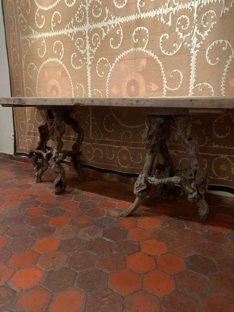Console Table with One Slab 17th Century Top on 19th Century Winebranch Consoles For Sale 2