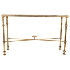 Console Tables, Gilt Iron, Italy, 1970s