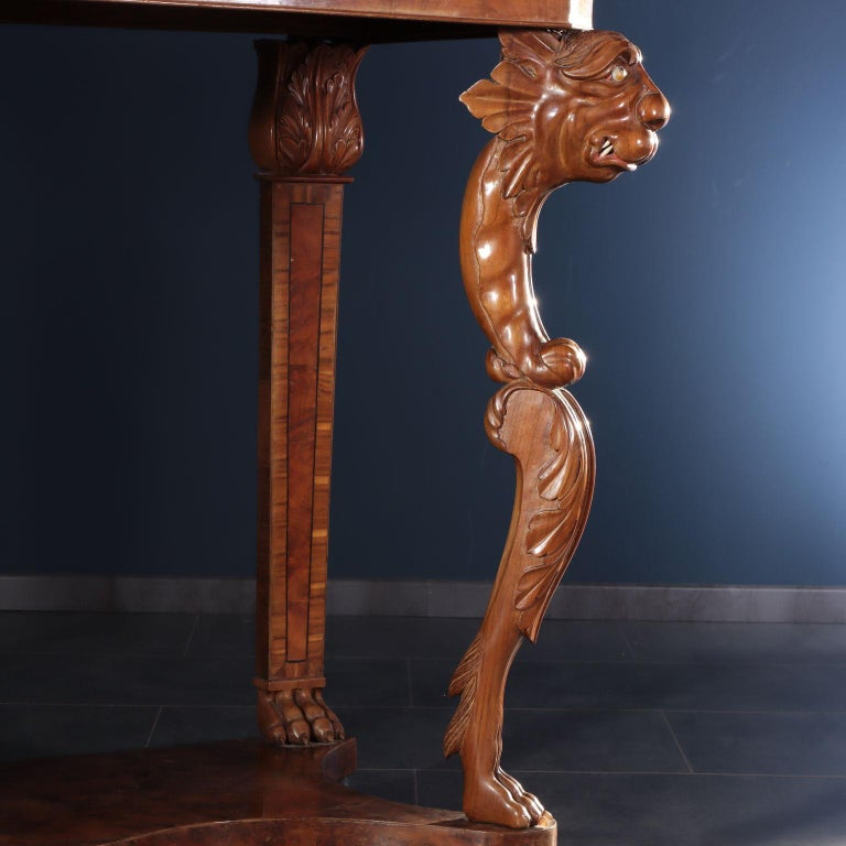 Marble Console Tuscany, Italy, Mid-19th Century For Sale