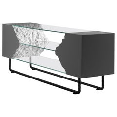 Console / TV Table Break Free Collection from Glass and Wood for Wild Interior